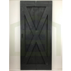 Outlet: Loftdeur Steigerhout Vintage Zwart 110 x 240 cm