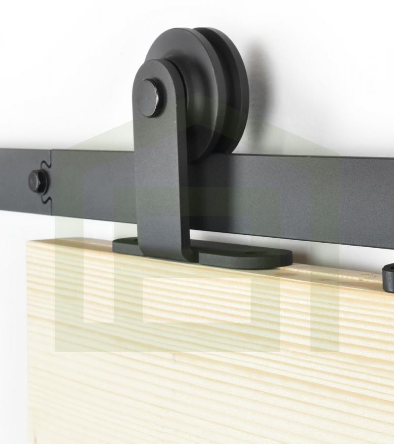 Schuifdeursysteem bovenop zwart voor buiten