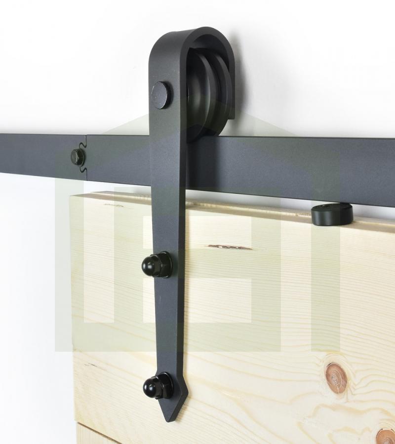 Schuifdeursysteem pijl zwart voor buiten