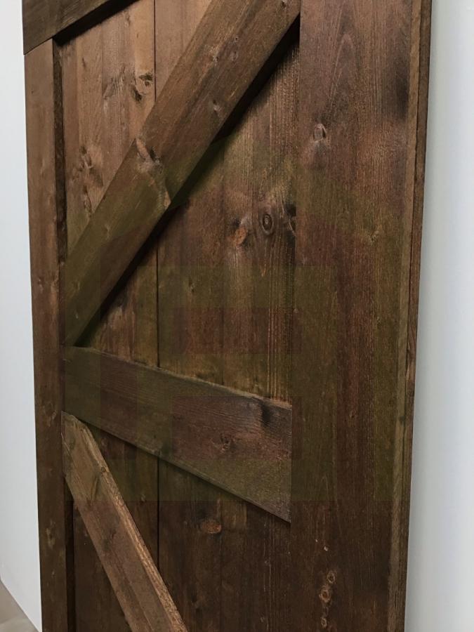 Outlet: Loftdeur Steigerhout Vintage Bruin 100 x 183 cm