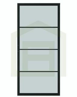 Outlet: Loftdeur Staal en Glas 88 x 205 cm