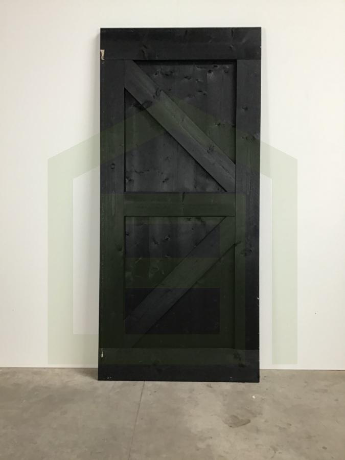 Outlet: Loftdeur Steigerhout Vintage Zwart 100 x 220 cm