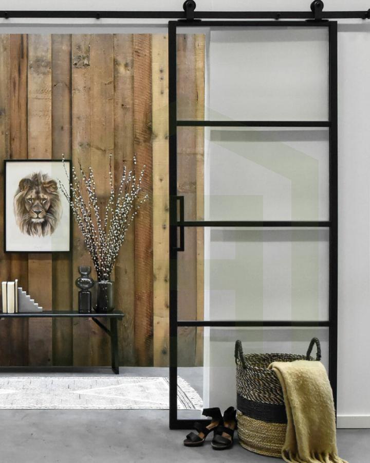 Loftdeur Aluminium met glas