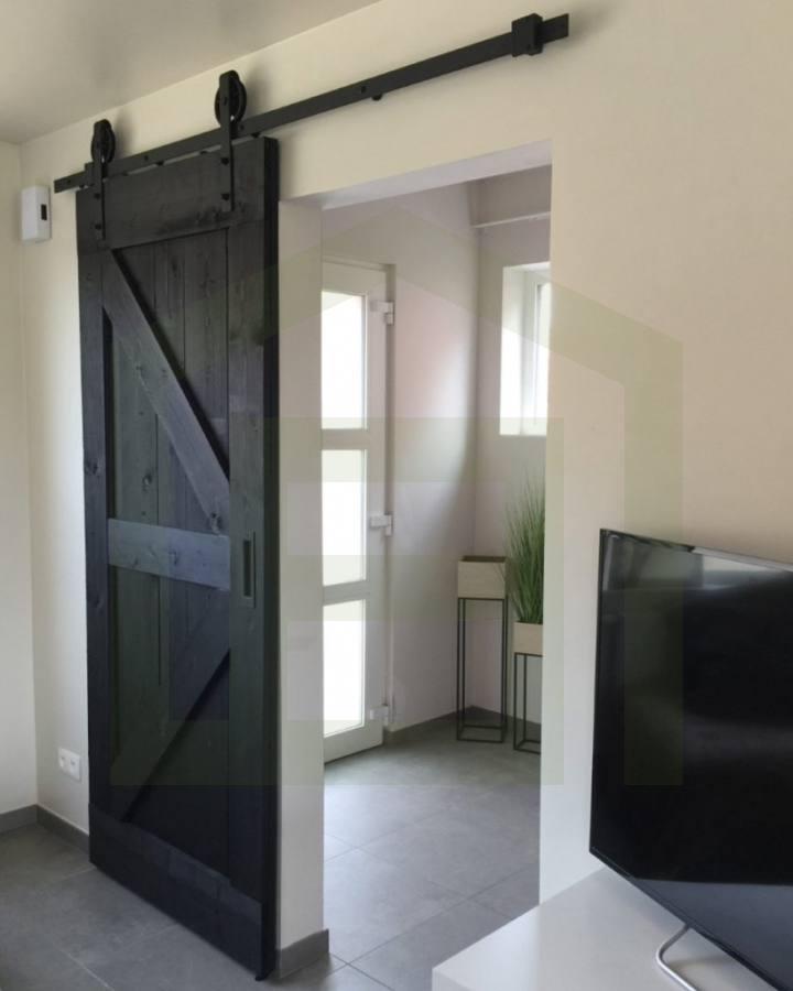 Loftdeur Steigerhout Diep Zwart