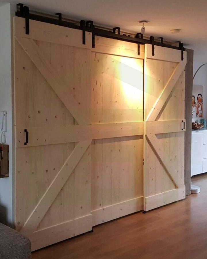 Schuifdeursysteem Dubbel Wand of Plafond