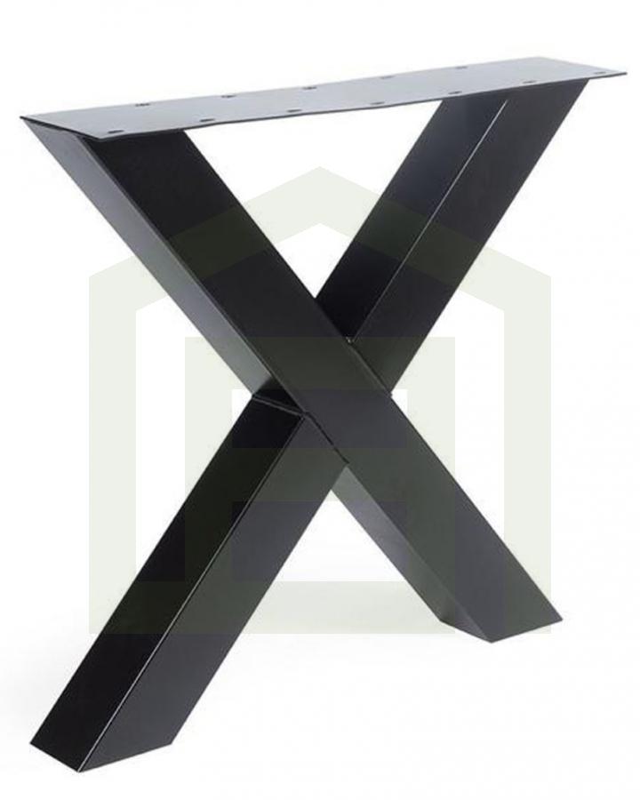 Tafelpoot Staal X-model