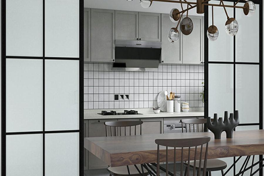 schuifdeuren glas en staal